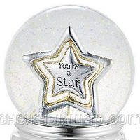 """Стеклянный музыкальный шар """"Именная звезда"""" (США). Диаметр: 12 см., фото 1"""