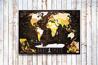 My Map Chocolate Edition ENG 88х63 см, тубус 71 см, открытка, менетка, фетр, кнопки, булавки, стикеры, фото 1
