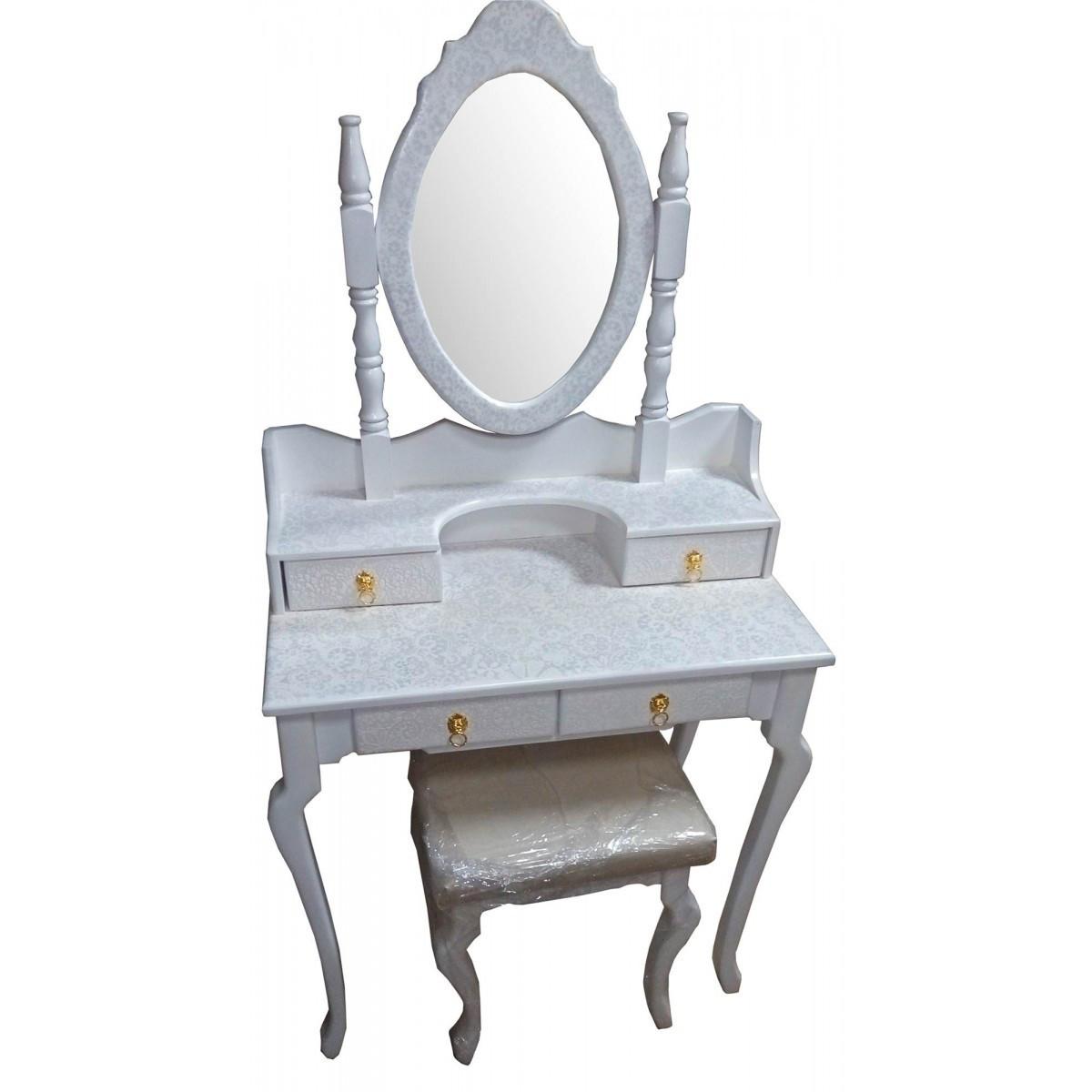 Столик туалетный белый массив дерева
