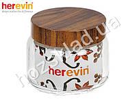 Банка стеклянная Herevin Woody с пластиковой крышкой 425мл 14114