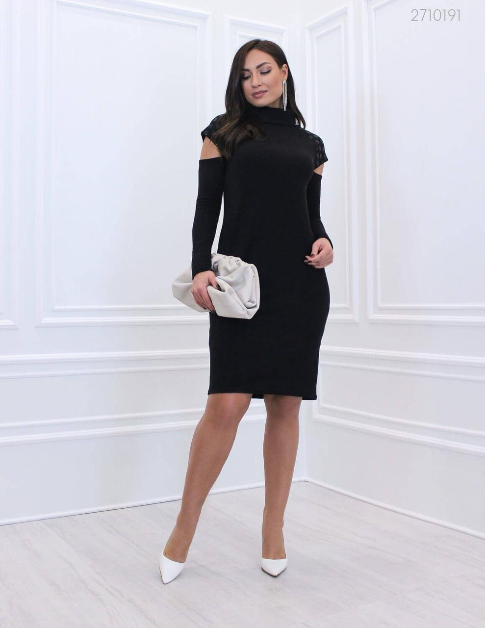 Нарядное платье Осака  (чёрный)