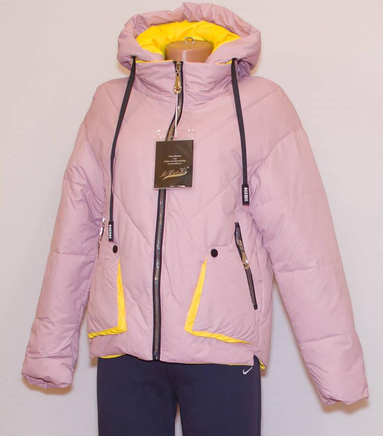 Куртка весняна жіноча з капюшоном, фото 2