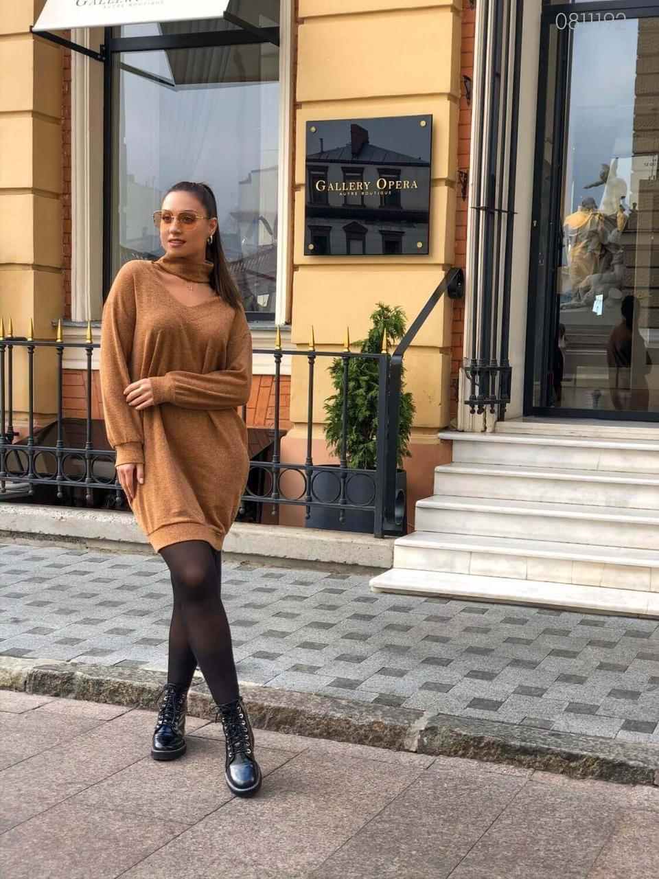 Платье - свитер Таволара   (охра)