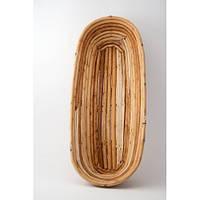 Форма корзина для расстойки хлеба из лозы овальная на 1кг (34х13.5х8 см)