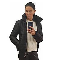 Куртка дутик женская демисезонная, много расцветок, модель Мира, черная, размеры 42-48
