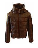 Женская демисезонная куртка дутик однотонная с капюшоном из плащевки черная на весну осень, модель Мира, фото 8