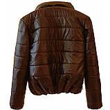 Женская демисезонная куртка дутик однотонная с капюшоном из плащевки черная на весну осень, модель Мира, фото 7