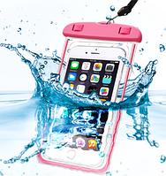 """Водонепроницаемый флуорисцентный чехол для мобильных телефонов до 6"""" HLV C25224-1 10,5x20 см Pink"""