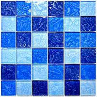 Стеклянная мраморная мозаика для ванной, бассейна, кухни, гостинной, магазина MZR-4055