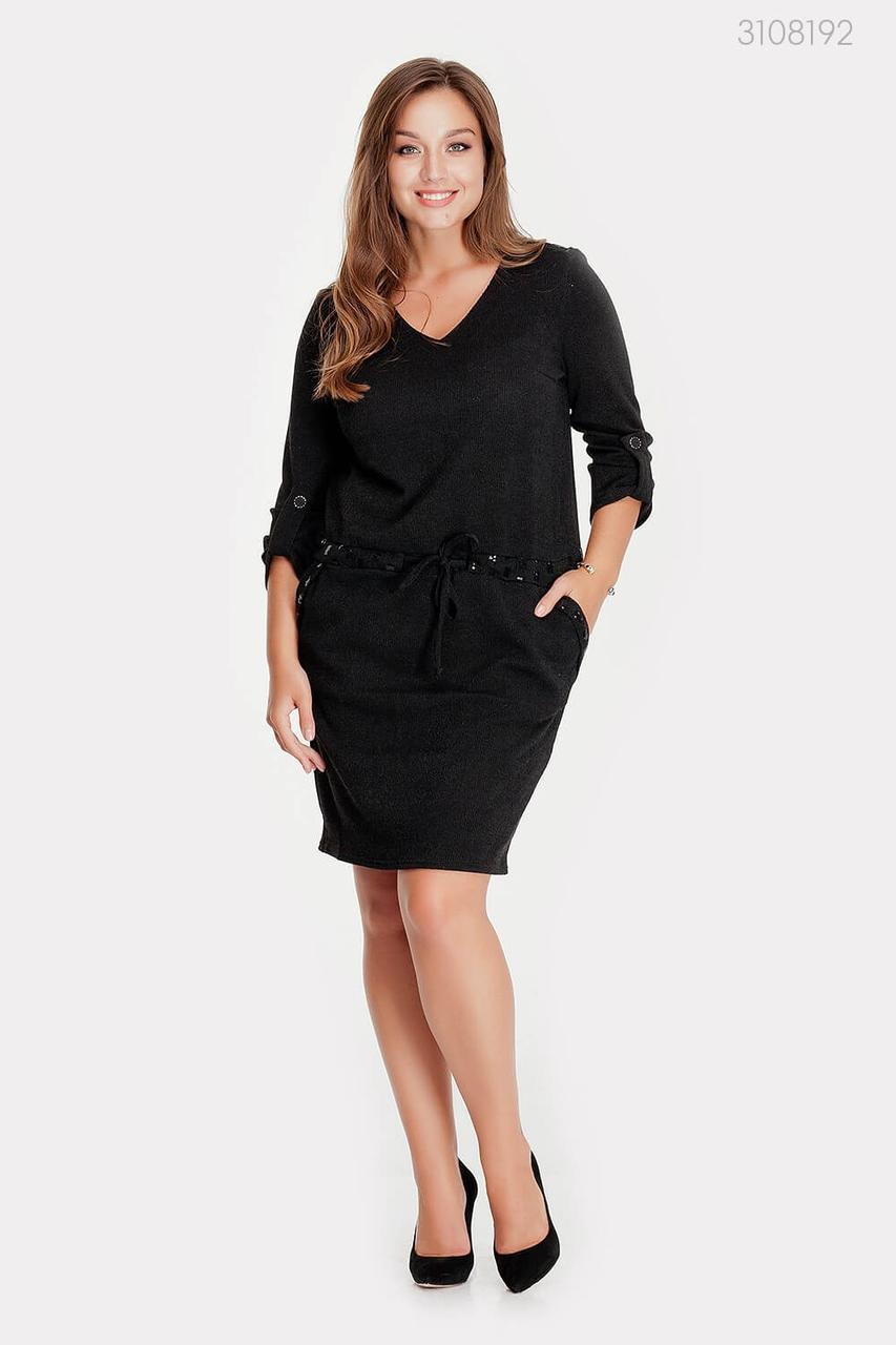 Черное красивое платье Даббо   (чёрный)