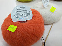"Пряжа для вязания ""Кид мохер"". коралл"