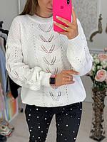 Красивый и оригинальный свитер в стиле оверсайз, фото 1