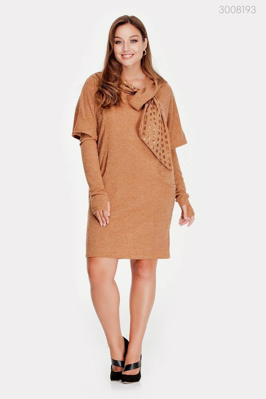 Платье со съемными рукавоми Манаус  (охра)