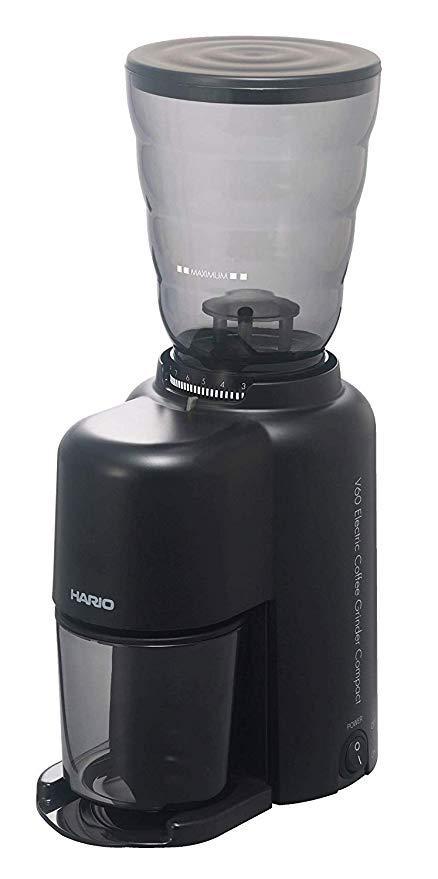 HARIO V60 Electric Coffee Grinder Compact - электрическая кофемолка для эспрессо и среднего помола