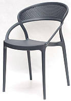 Кресло пластиковое Nelson (Нельсон) антрацит, модное современное кресло код 9091