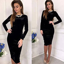 "Платье из бархата ""Prestige""| Новинка, фото 2"