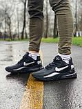 Кросівки чоловічі натуральна шкіра NIKE AIR MAX 270 Найк Аір Макс (РОЗМІР 41), фото 5