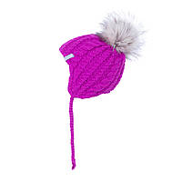 Зимняя шапка для девочки Nano F19TU498 MauveRose. Размеры 6/12 мес и 12/24 мес.