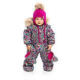 Зимняя шапка для девочки Nano F19TU498 MauveRose. Размеры 6/12 мес и 12/24 мес., фото 2