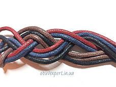 Шнурки обувные вощенные Круглые, d=3 мм, цв. в ассортименте, фото 2