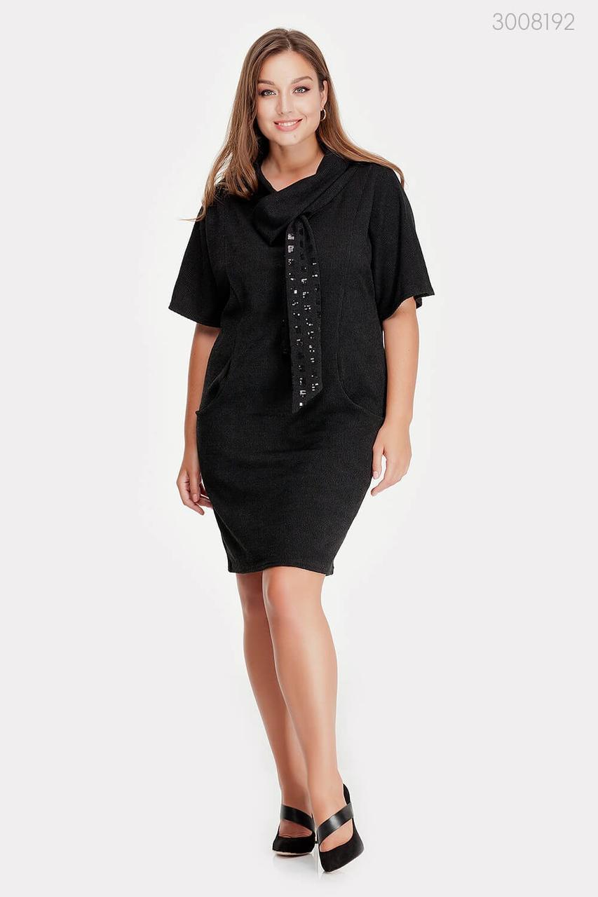 Черное ангоровое платье Манаус  (чёрный)