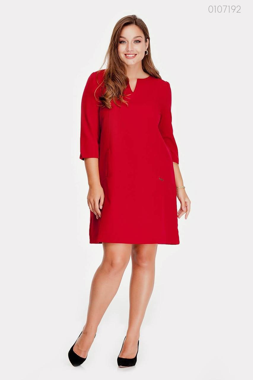 Алое платье на каждый день Касабланка - 1  (марсала)