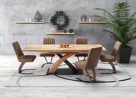 Стол раскладной SANDOR_3 ламинированный 160 (220)Х90 (Halmar)