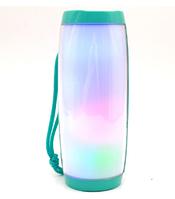 Портативная беспроводная Bluetooth колонка TG-157 Original Pulse с разноцветной подсветкой Green