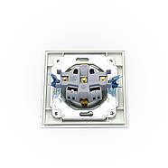 Розетка одинарная АВАТАР ТермоПласт с заземлением внутренняя белая, фото 4