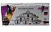 Набор кастрюль из нержавеющей стали 12 пр. 5-слойным дном Benson (2.1 , 2.1,  2.9 , 3.9, 6,5 л.)с сковородой, фото 3