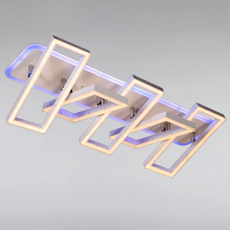 Люстра светодиодная LED DS-814390/5WH LED dimmer с диммером и LED подсветкой, цвет белый, 155W