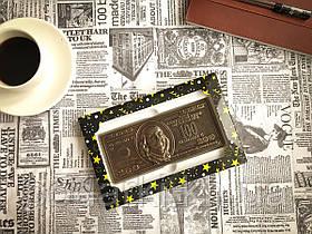 Шоколадный доллар в подарочной коробке для любимой жены