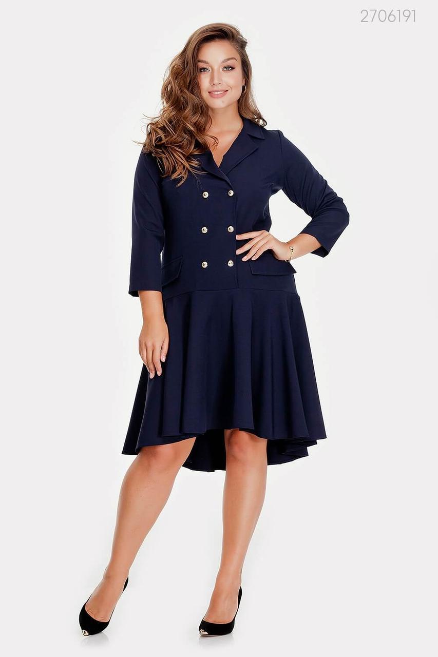 Стильное двубортное платье Аскона  (синий)