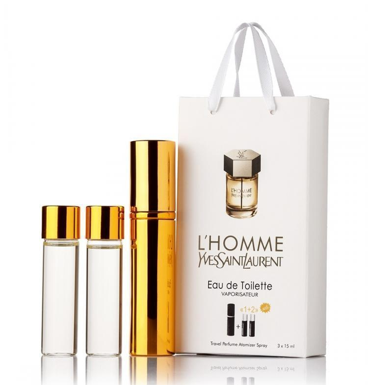 Мини-парфюм с феромонами мужской YVES SAINT LAURENT L'Homme 3х15 мл