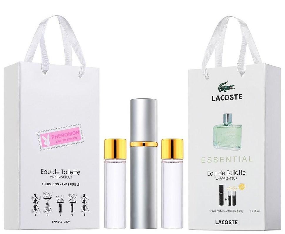Мини-парфюм с феромонами мужской LACOSTE Essential 3х15 мл