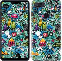 Чехол EndorPhone на Xiaomi Mi 8 Lite Стикер бомбинг 1 693u-1585-18675 (hub_FKxx57286)