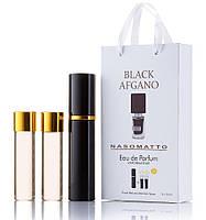 Мини-парфюм унисекс с феромонами NASOMATTOBlack Afgano 3х15 мл