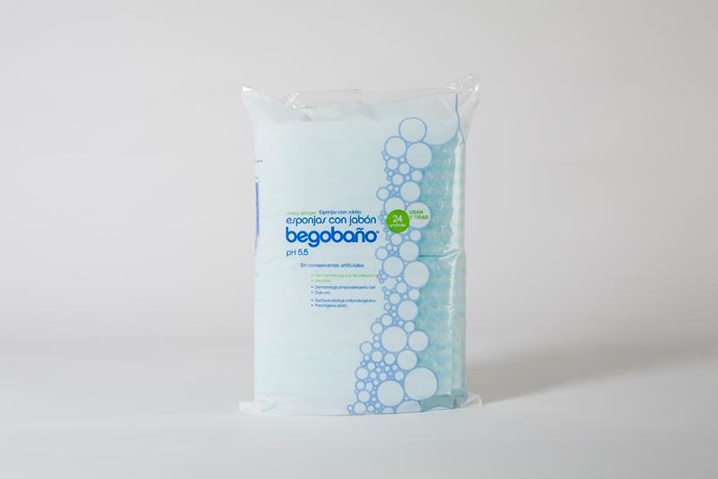 Губка пенная одноразовая с дерматологическим гелем Jalsosa Begobano, 24 шт.