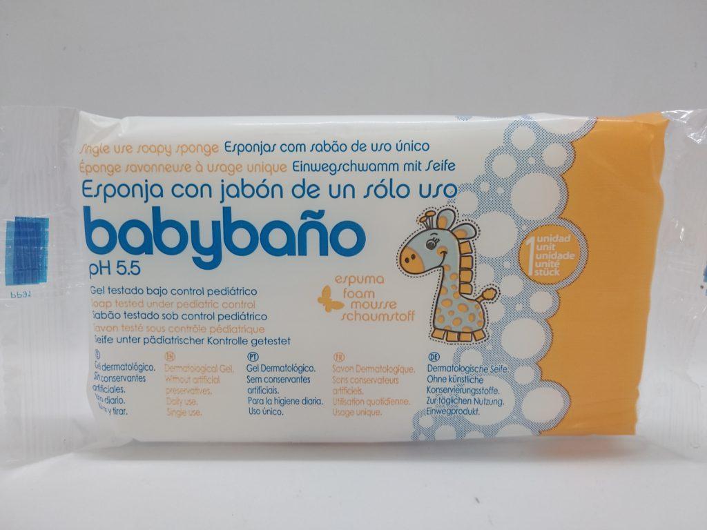 Одноразовая пенная губка для детской гигиены Jalsosa Babybano