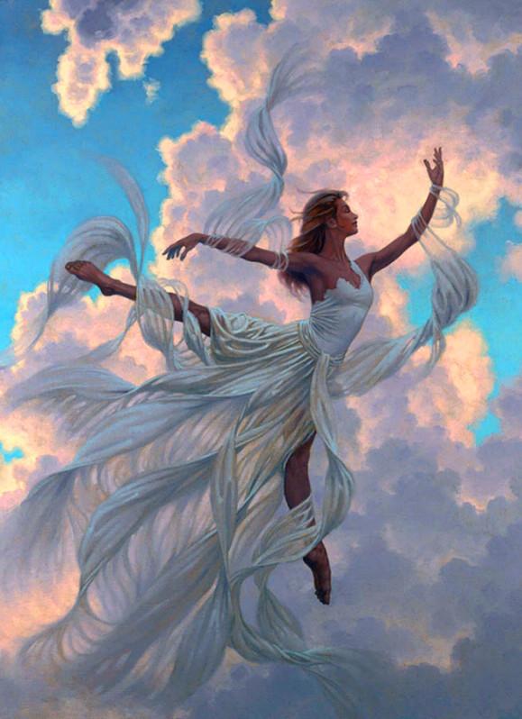 """Картина по номерам на дереве 40*50 """"Балет в небе"""" RA3150 в подарочной коробке"""