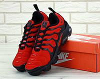 Мужские кроссовки красные Nike Air VaporMax Plus красные (реплика ТОП), фото 1