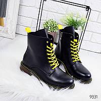 Ботинки женские демисезонные Frow черные