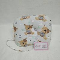 Антиалергенная ортопедическая подушка для младенцев Мишка Тедди  22 х 26 см (186)