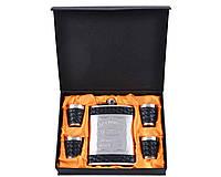 Подарочный набор с Флягой Jack Daniel's Черный строгий стильный набор для делового мужчины