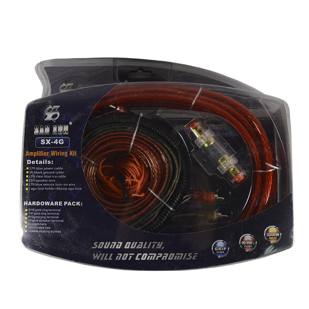 Комплект проводов для сабвуфера SX-4G (провода для подключения усилителя для сабвуфера)
