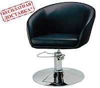 Кресло парикмахерское Мурат P экокожа черная поворотное с гидроподъемником СДМ группа (бесплатная доставка)