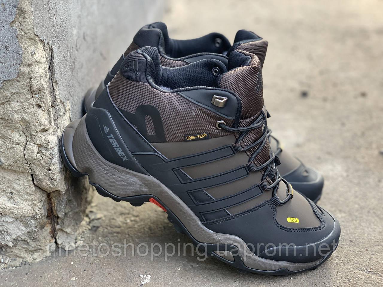 Зимові черевики (на хутрі) чоловічі Adidas TERREX 3-085⏩ [ТІЛЬКИ 42 РОЗМІР]