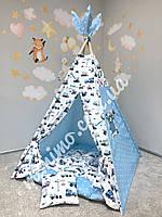 Вигвам детская игровая палатка «Машинки малыша»