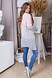 Женская вязаная трехцветная теплая кофта 42-46. (5расцв), фото 2