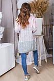 Женская вязаная трехцветная теплая кофта 42-46. (5расцв), фото 3